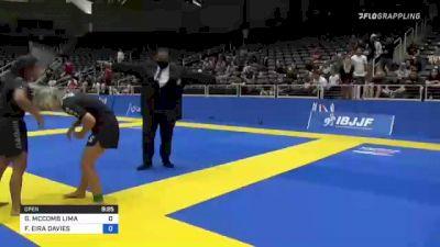 GABRIELLE MCCOMB LIMA vs FFION EIRA DAVIES 2021 World IBJJF Jiu-Jitsu No-Gi Championship