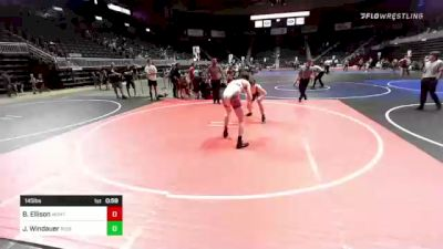 145 lbs 3rd Place - Brady Ellison, Montana Disciples vs Justin Windauer, Ruis Wr Ac