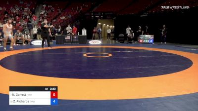 61 kg Rnd Of 16 - Nahshon Garrett, Titan Mercury Wrestling Club vs Zane Richards, Titan Mercury Wrestling Club