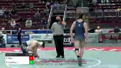 172 lbs Quarterfinal - Sammy Starr, Kiski Area vs Regan Loughney, La Salle College