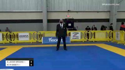 DOMINIQUE JARAR BROOKS vs MICHAEL A RAKSHAN-SABETI 2020 American National IBJJF Jiu-Jitsu Championship