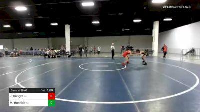 138 lbs Consolation - Joseph Cangro, NJ vs Matthew Henrich, NJ