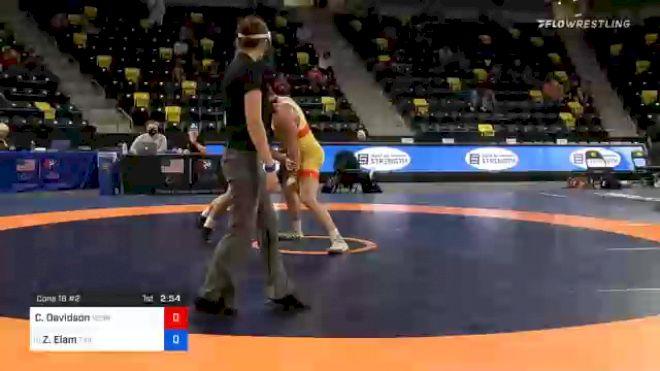 125 kg Consolation - Cale Davidson, Nebraska Wrestling Training Center vs Zach Elam, Tiger Style Wrestling Club