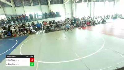 191 lbs Semifinal - Kiley McClain, No Mercy vs Jordan Carrillo, Pounders WC