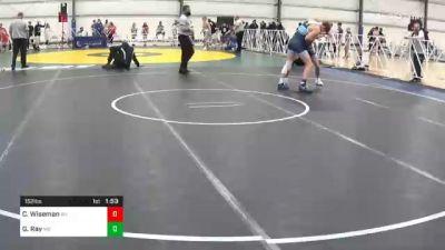 152 lbs Prelims - Connor Wiseman, WV vs Griffin Ray, MO