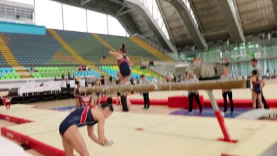 Grace McCallum, Beam Skills With Timer Dism, Training Day 1 - 2018 Pacific Rim Championships