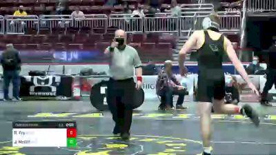 160 lbs Quarterfinal - Ryan Fry, Red Lion vs Jack McGill, Spring-Ford