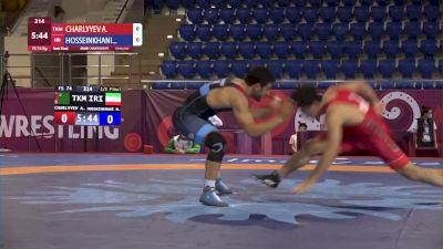 74 kg Semifinal - Mostafa HOSSEINKHANI, IRI vs Atamyrat CHARLYYEV, TKM