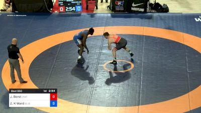 125 kg 3rd Place - John Borst, Unattached vs Zachary Knighton-Ward, Blue & Gold Wrestling Club