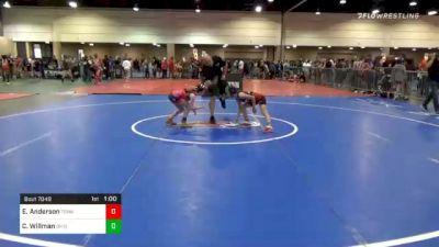 70 lbs Prelims - Ellen Anderson, Tennessee vs Calliope Willman, Ohio