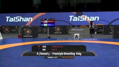 61kg Match - Nathan Tomasello, USA vs Ravi Kumar, IND
