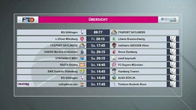 Full Replay - s.Oliver Wurzburg vs Lowen Braunschweig