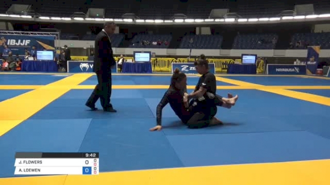 JESSICA FLOWERS vs AMANDA LOEWEN World IBJJF Jiu-Jitsu No-Gi