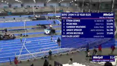 Youth Boys' 200m, Finals 3 - Age 9-10
