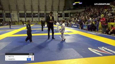 CHARLES MARTEL vs CILLIAN BETTS 2019 Pan Kids Jiu-Jitsu IBJJF Championship