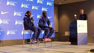 Brigid Kosgei Post-Marathon World Record Press Conference