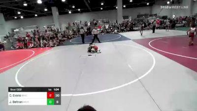 65 lbs Rr Rnd 2 - Cruz Evans, Bracket Bullies vs Jarron Beltran, West Coast Riders