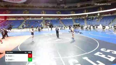 120 lbs 3rd Place - Kai Owen, Pennsylvania vs Nikolaus Oneill, Pennsylvania
