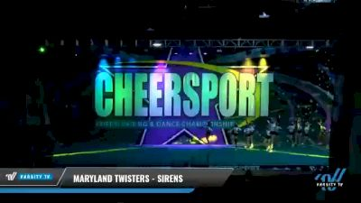 Maryland Twisters - Sirens [2021 L4 Senior - Small - A Day 2] 2021 CHEERSPORT National Cheerleading Championship