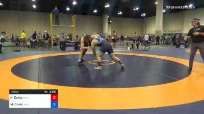 125 kg Semifinal - Hunter Catka, Southeast RTC, Inc vs Matthew Cover, Unattached