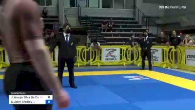Joao Araujo Silva Da Costa vs Adam John Bradley 2021 Pan IBJJF Jiu-Jitsu No-Gi Championship