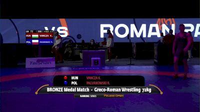 72kg Bronze - Krisztian Vancza, HUN vs Roman Pacurkowski, POL