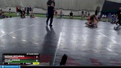 223 lbs 1st Place Match - Myles Johnson, Springboro vs Nathan Critchfield, Maurer Coughlin WC
