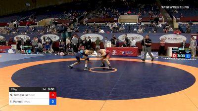 57 kg Quarterfinal - Nathan Tomasello, Titan Mercury Wrestling Club vs Frank Perrelli, Titan Mercury Wrestling Club