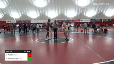 174 lbs Consolation - John Mark Williams, Ohio University vs Max Wohlabaugh, Clarion