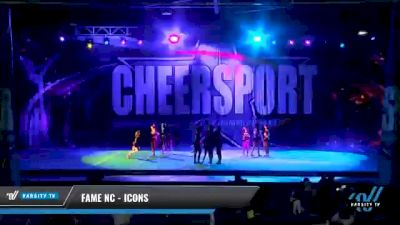 FAME NC - Icons [2021 L3 Junior - Small - A Day 1] 2021 CHEERSPORT National Cheerleading Championship