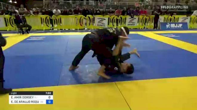 ELIJAH AMIR DORSEY vs EDUARDO DE ARAUJO ROQUE 2021 Pan Jiu-Jitsu IBJJF Championship