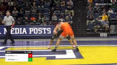 165 lbs Semifinal - Shane Griffith, Stanford vs Travis Wittlake, Oklahoma State