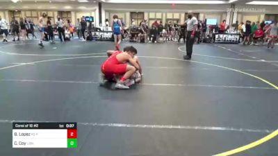 145 lbs Consi Of 16 #2 - Blake Lopez, PQ Pinners vs Carson Coy, Lions WC