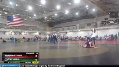 144 lbs Quarterfinal - Ashlynn Goodwin, Goddard vs Lyndsee Young, Ohio