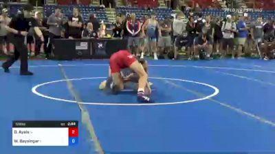126 lbs Round Of 16 - Drake Ayala, Iowa vs William Baysingar, Illinois