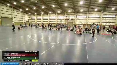 113 lbs 5th Place Match - Scout Santos, Mountain View High School Wres vs Clark Petersen, East Idaho Elite