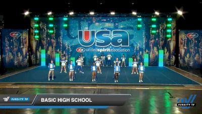 Basic High School [2020 Co-Ed Varsity Show Cheer Intermediate Day 2] 2020 USA Spirit Nationals