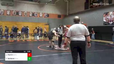 172 lbs 3rd Place - Jonah Martin, Bermudian Springs vs Tate Neiderer, Delone Catholic