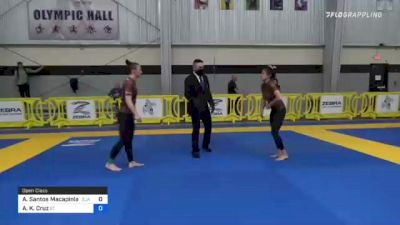 Andrea Santos Macapinlac vs Ashley K. Cruz 2021 Pan IBJJF Jiu-Jitsu No-Gi Championship