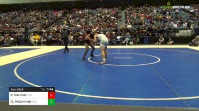 170 lbs 3rd Place - Gabe Martinez, Oakdale vs Sean McCormick, Churchill County-B