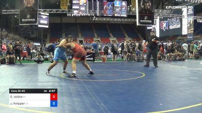 285 lbs Cons 32 #2 - Salvatore Iodice, New York vs Justin Knipper, Ohio