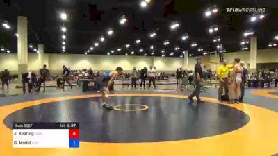 70 kg 3rd Place - Jake Keating, Cavalier Wrestling Club vs Garrett Model, Wisconsin Regional Training Center