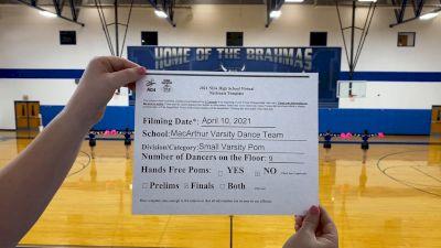 MacArthur High School [Small Varsity - Pom Virtual Finals] 2021 NDA High School National Championship