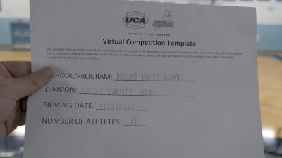 Mount Notre Dame High School [Small Varsity - Jazz] 2021 UCA & UDA March Virtual Challenge
