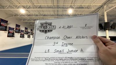 Champion Cheer - 3rd degree [L3 Junior - Small - A] 2021 NCA All-Star Virtual National Championship