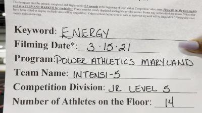 Power Athletics - Maryland - Intensi-5 [L5 Junior - Small] 2021 Beast of The East Virtual Championship