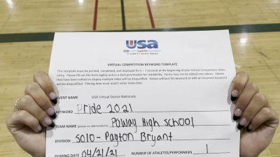 Poway High School [Open - Solo Finals] 2021 USA Spirit & Dance Virtual National Championships
