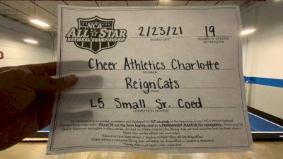 Cheer Athletics - ReignCats [L5 Senior Coed - Small] 2021 NCA All-Star Virtual National Championship