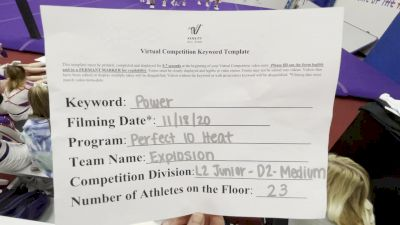 Perfect 10 Heat - Explosion [L2 Junior - D2 - Medium] Varsity All Star Virtual Competition Series: Event V