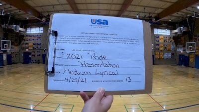 Presentation High School [Lyrical Varsity - Medium] 2021 USA Spirit & Dance Virtual National Championships